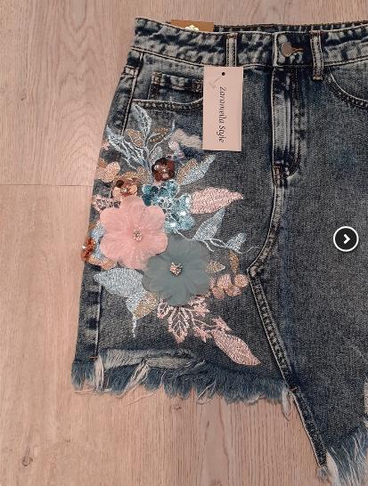 denim-skirt-with-flowers