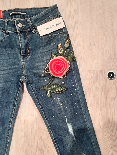 jeans-with-fur-flower