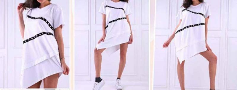 abito-bianco-con-fasce-nere